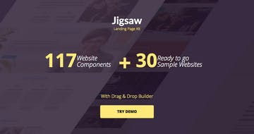 Jigsaw Landing Page Kit (71% off) Thumbnail Preview