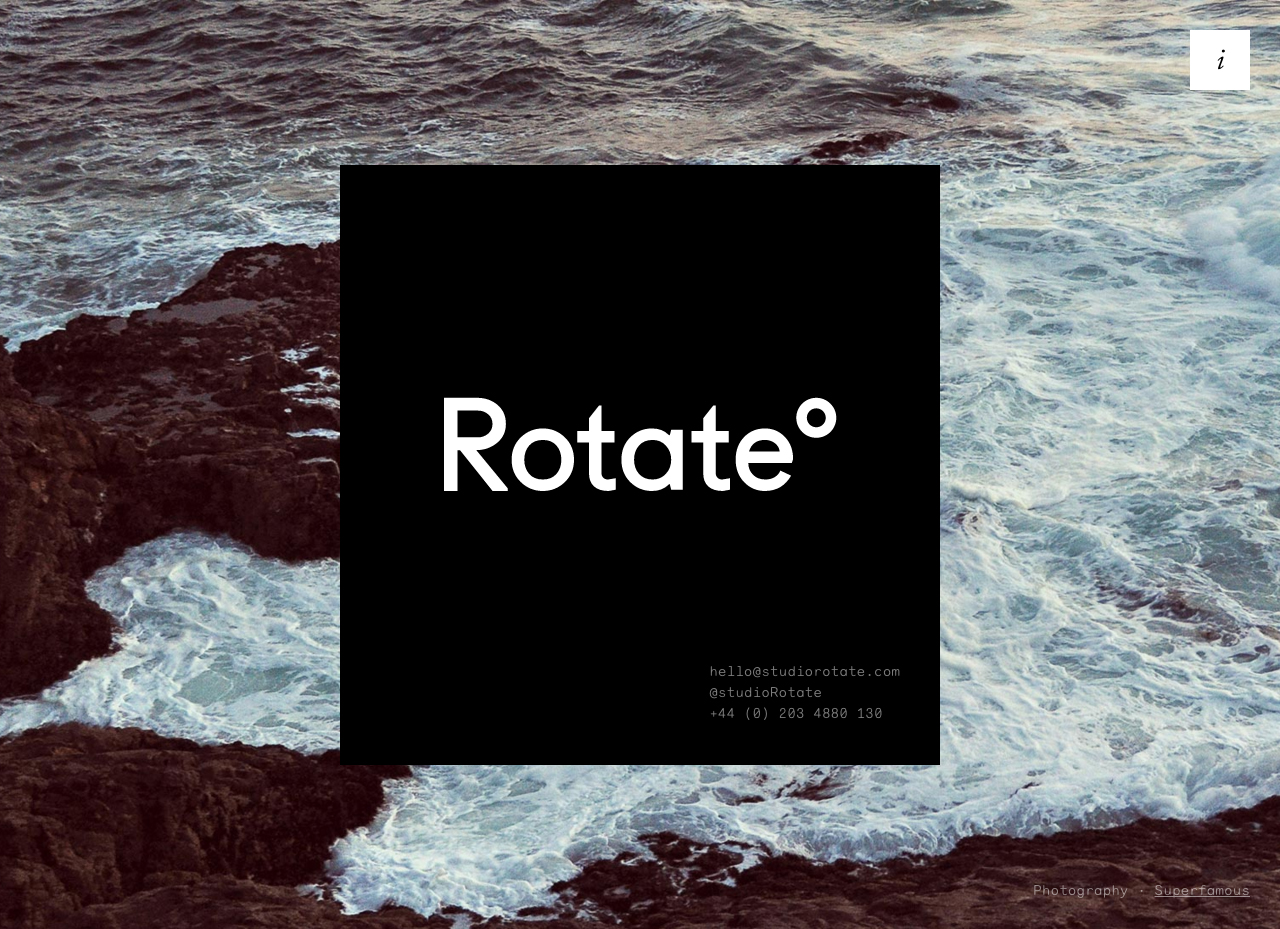 Rotate° Website Screenshot