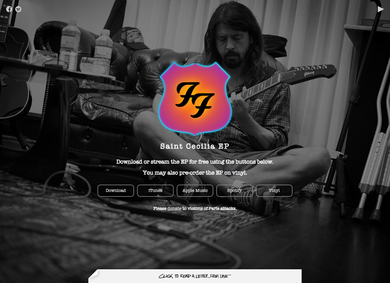 Foo Fighters – Saint Cecilia EP Website Screenshot