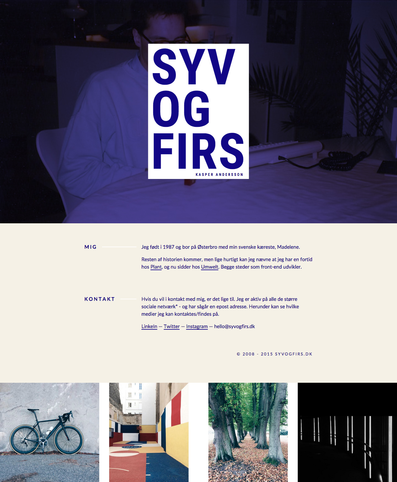 Kasper Andersson Website Screenshot