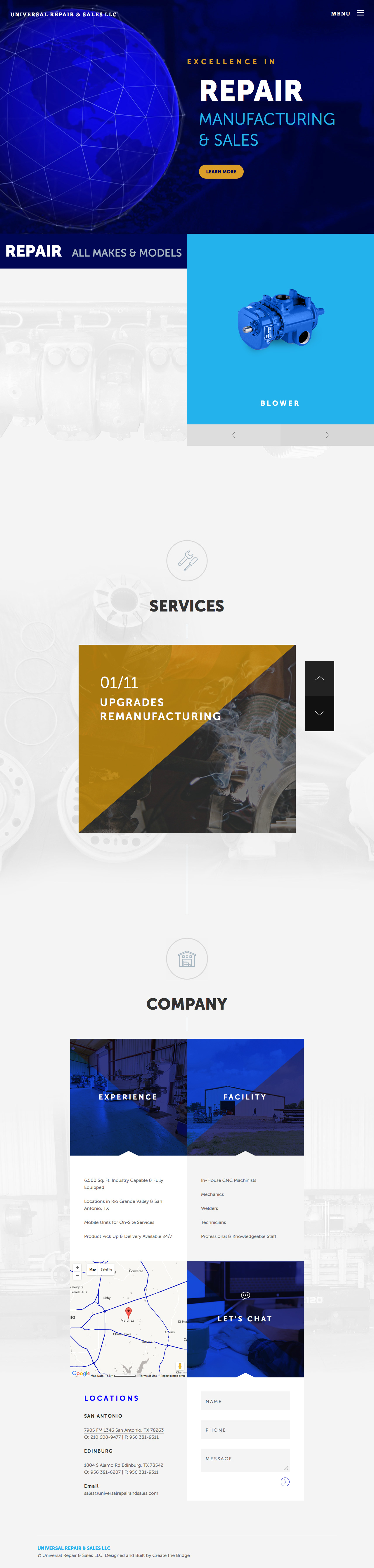 Universal Repair & Sales LLC Website Screenshot