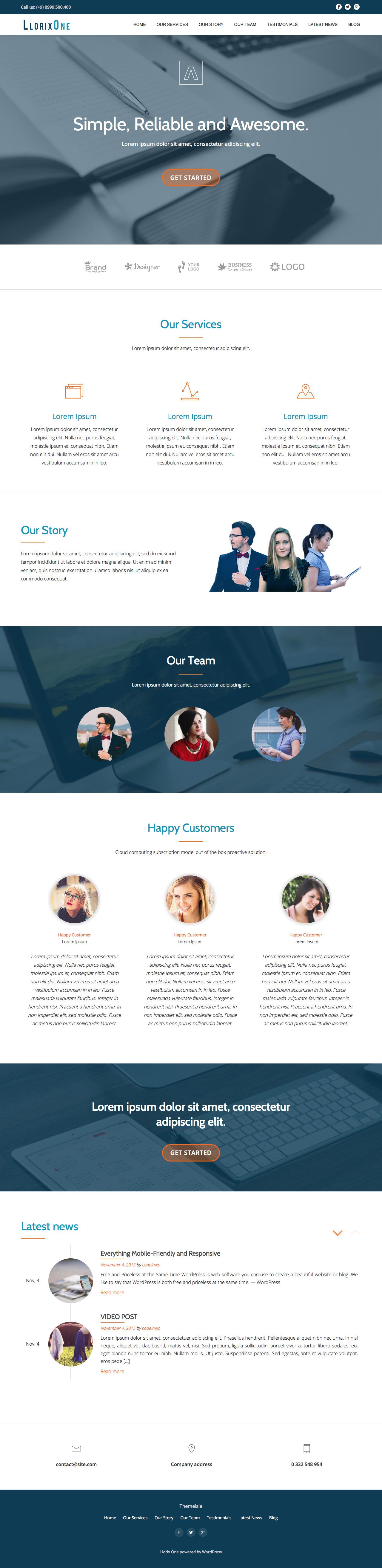 Llorix One Website Screenshot