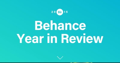 Behance 2015 Year in Review Thumbnail Preview