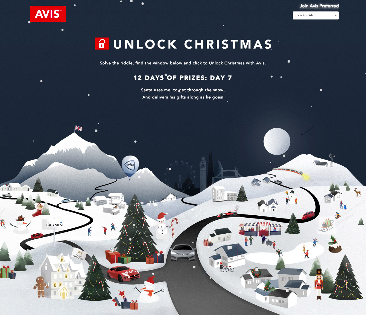 Unlock Christmas With Avis Website Screenshot