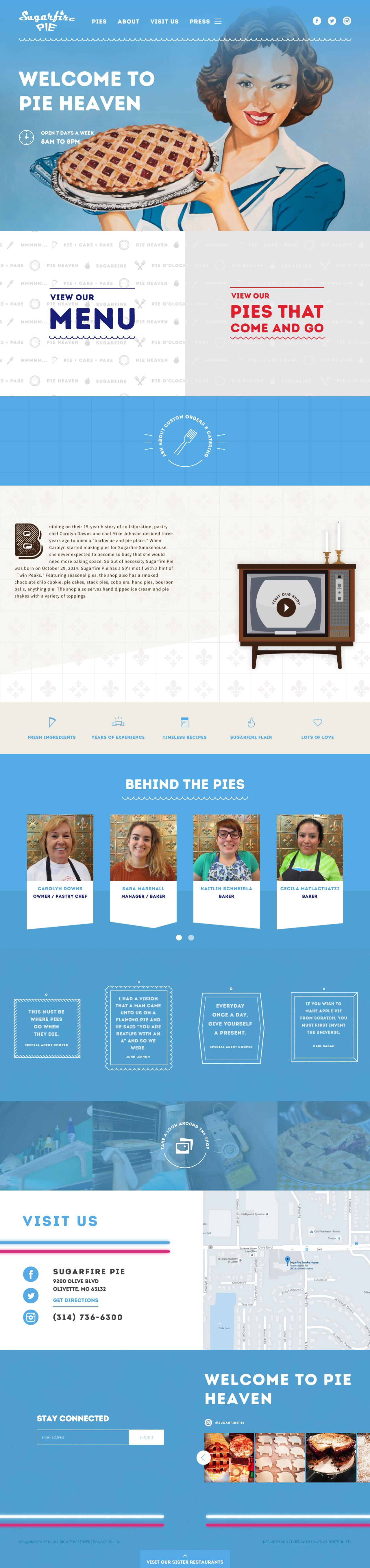Sugarfire Pie Website Screenshot