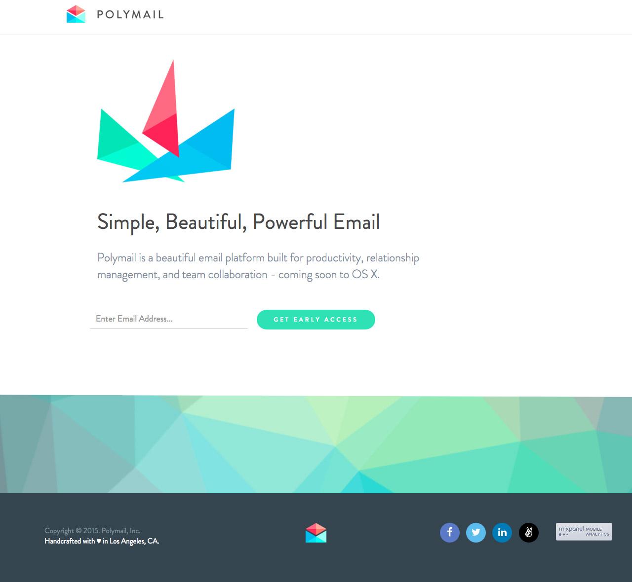 Polymail Website Screenshot