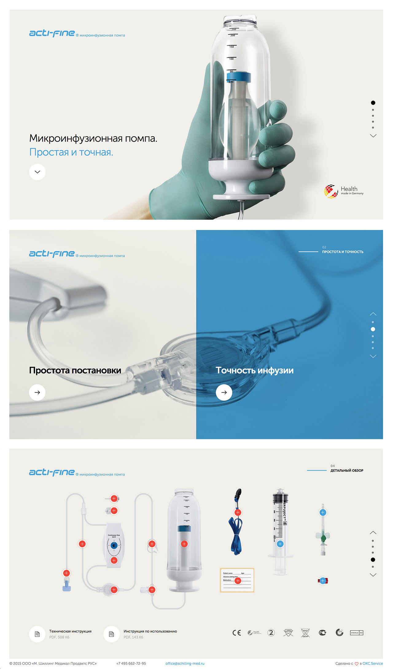 Acti-fine Microinfusion Pump Website Screenshot