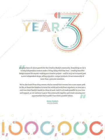 Creative Market 2015 Year in Review Thumbnail Preview