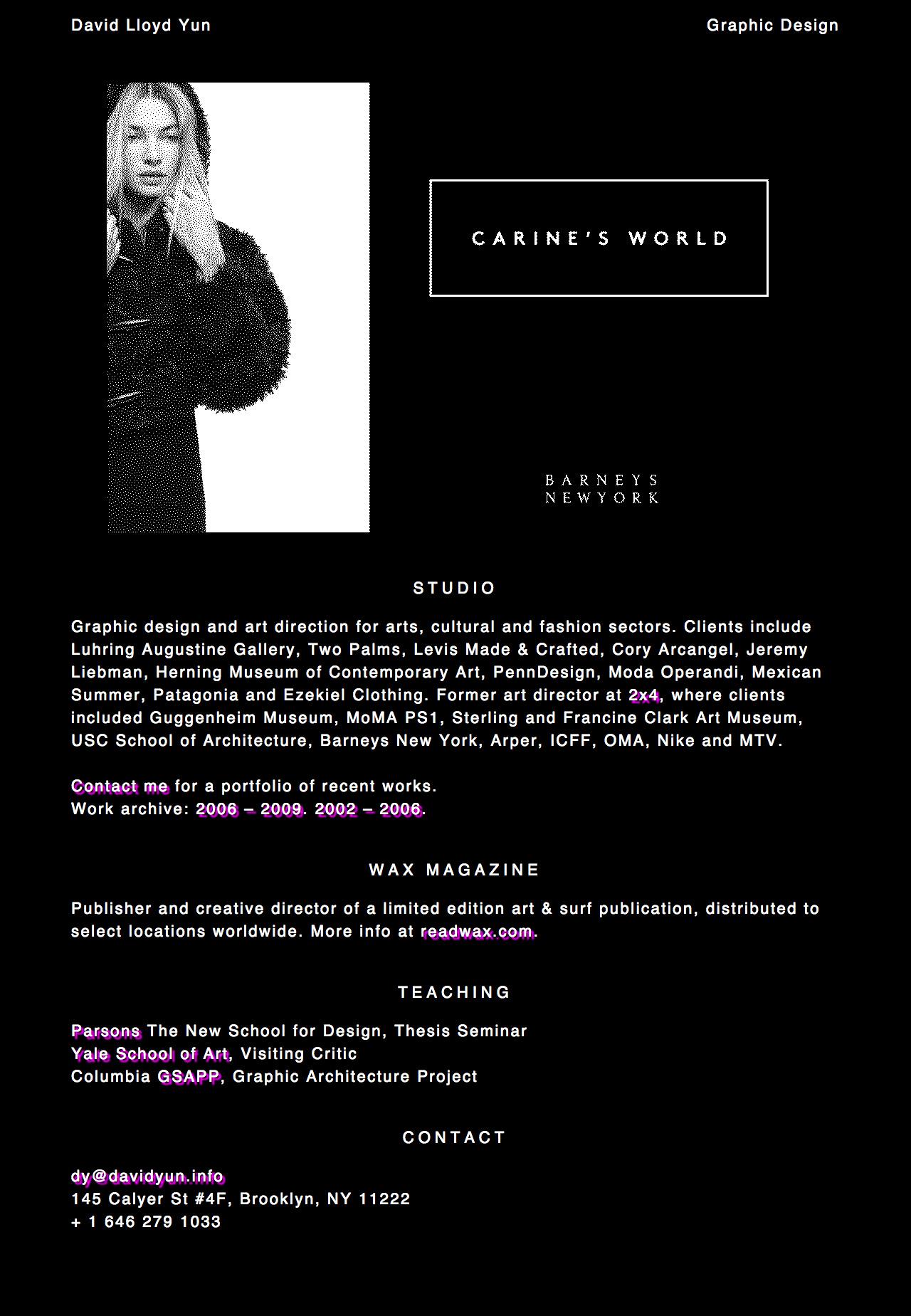 David Lloyd Yun Website Screenshot