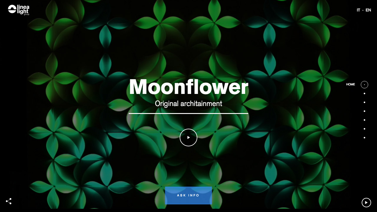 Moonflower – Linea Light Group Website Screenshot