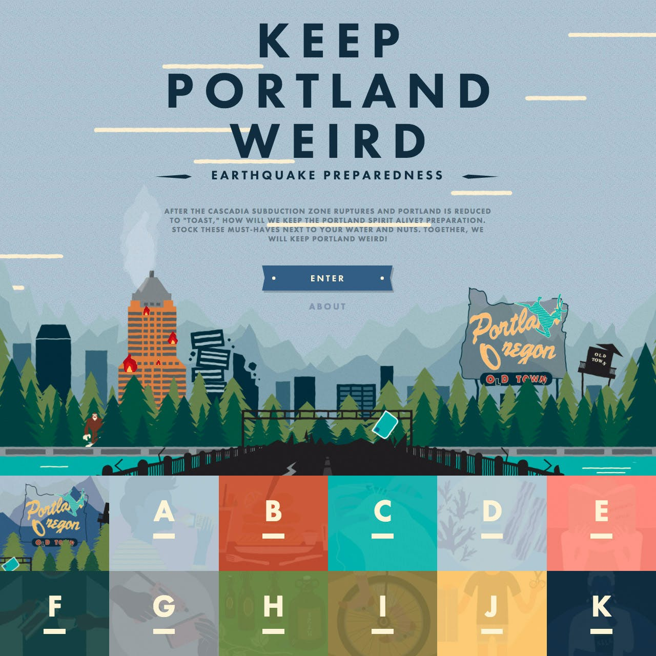 Keep Portland Weird Website Screenshot