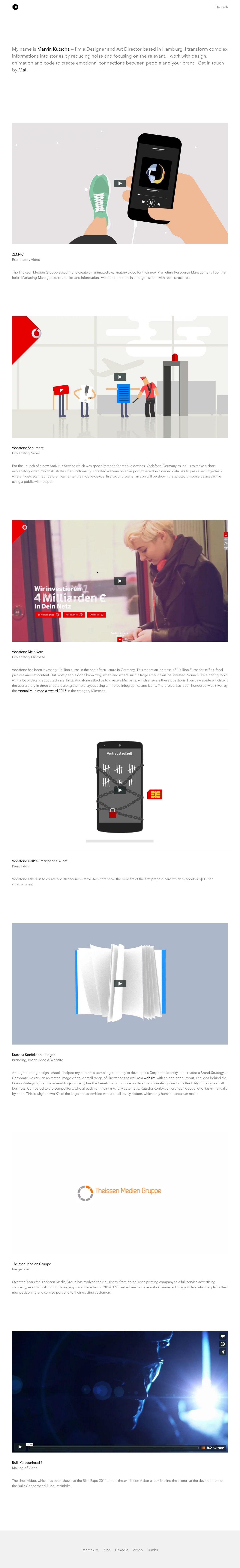 Marvin Kutscha Website Screenshot