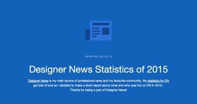 Designer News Statistics of 2015 Thumbnail Preview