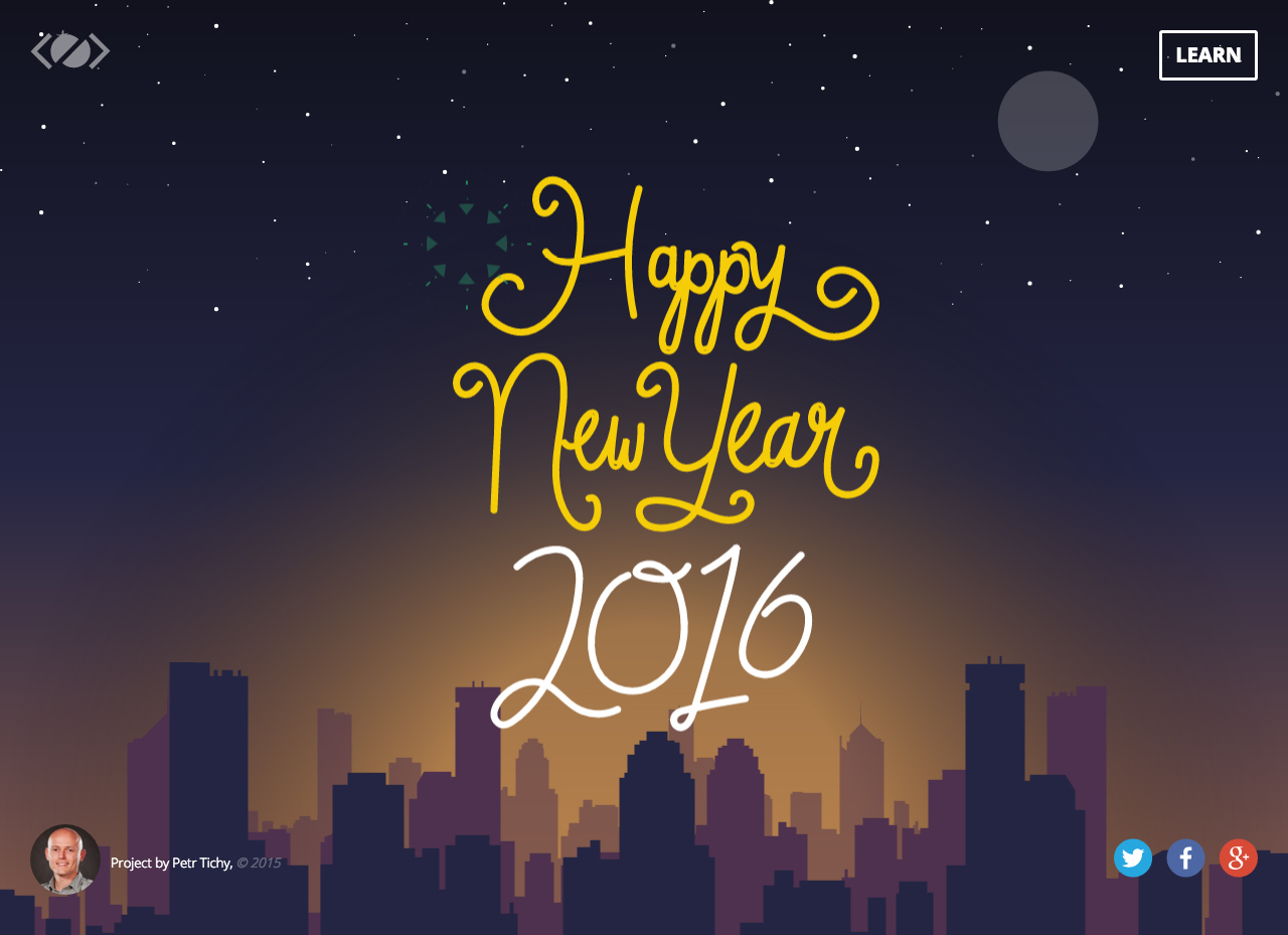 Happy New Year Website Screenshot