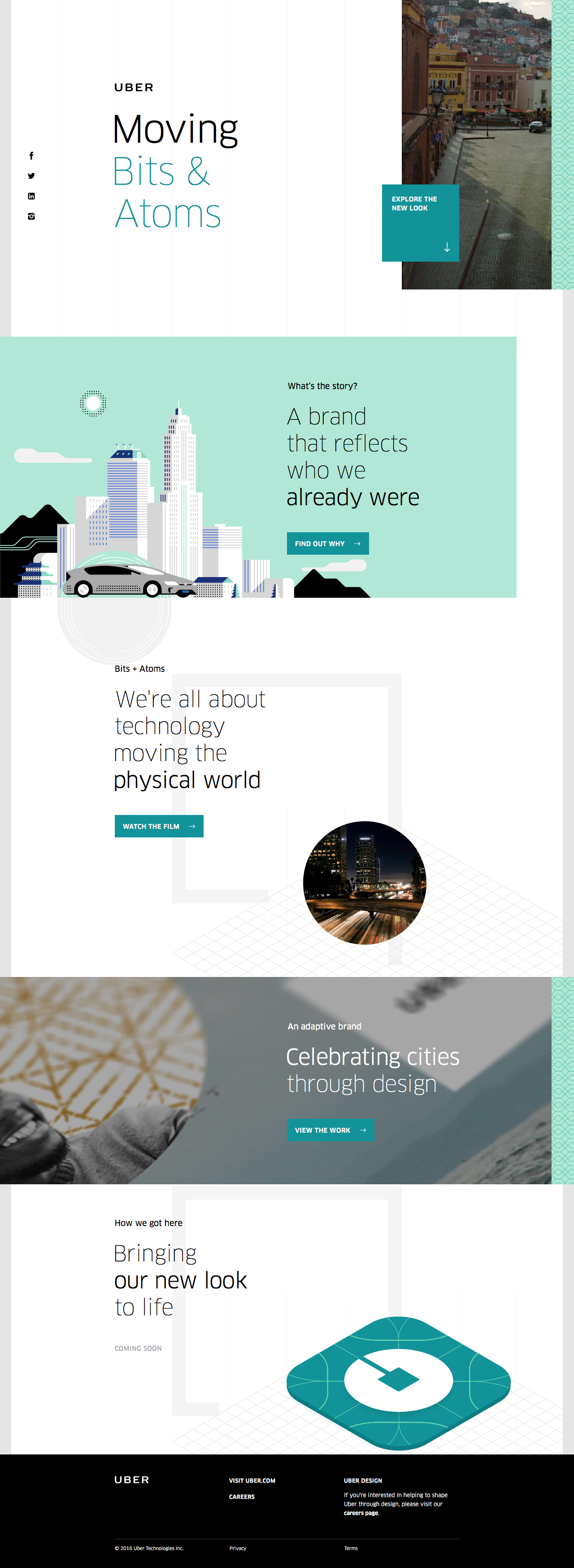 Uber Brand Experience Website Screenshot