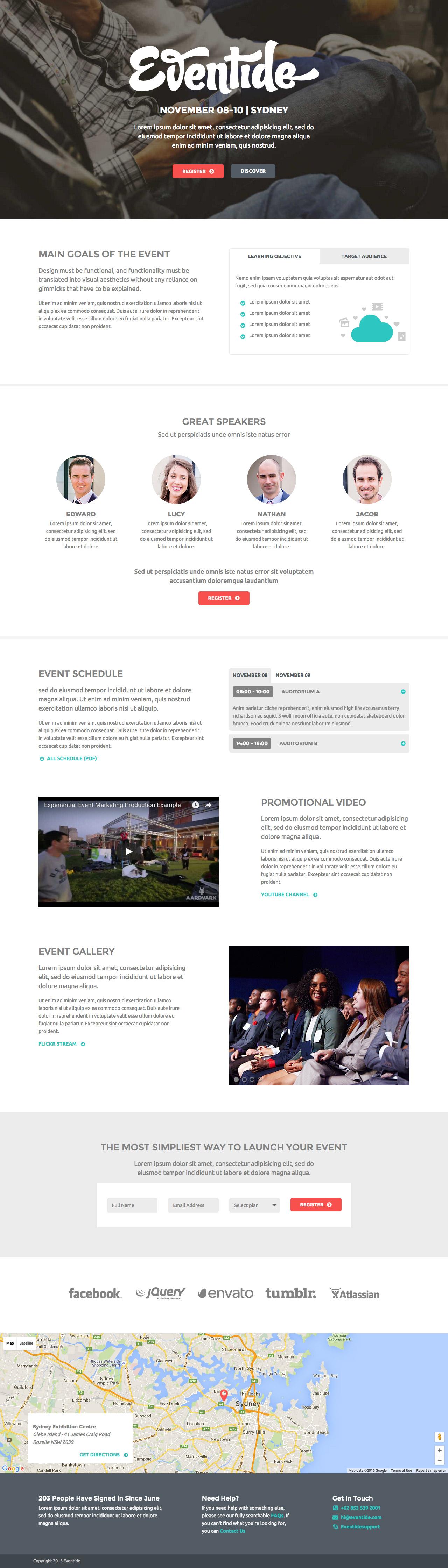 Eventide Website Screenshot