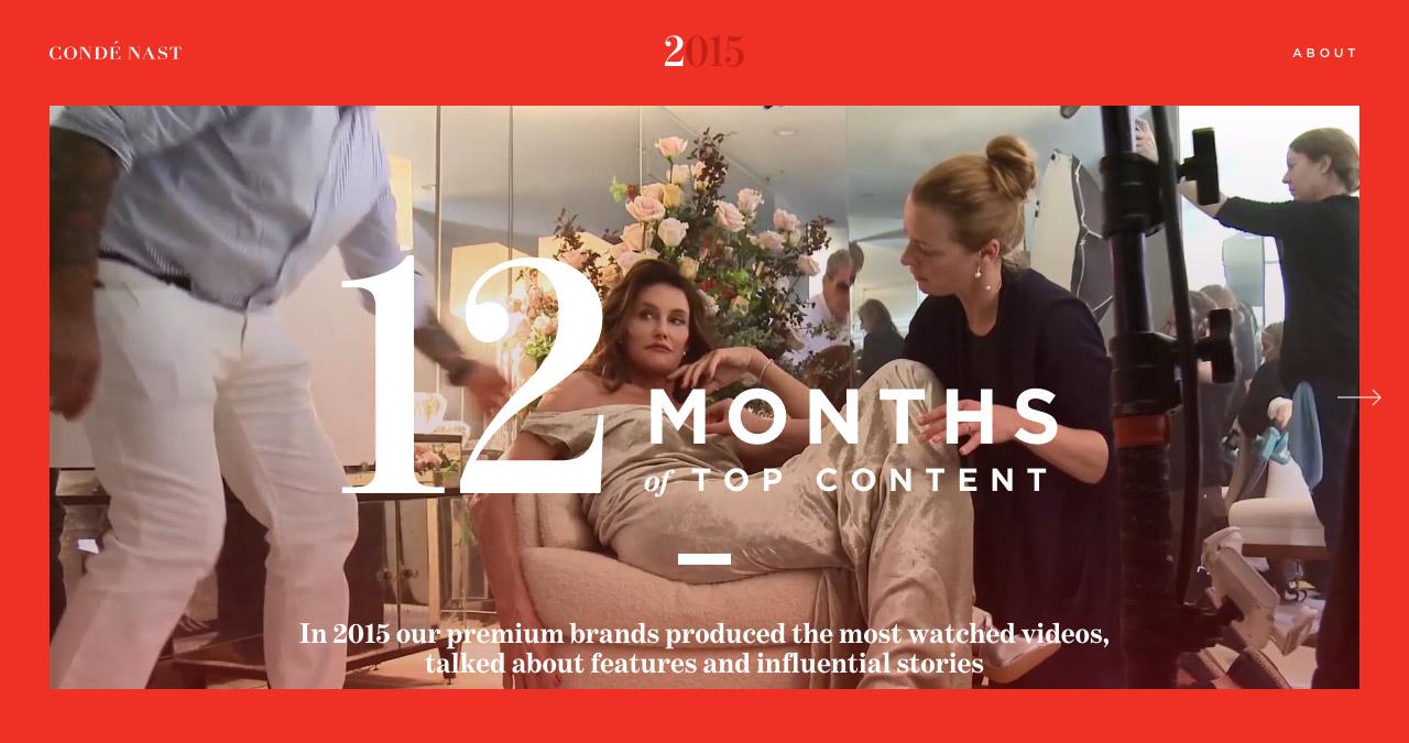Condé Nast – End Of Year 2015 Website Screenshot