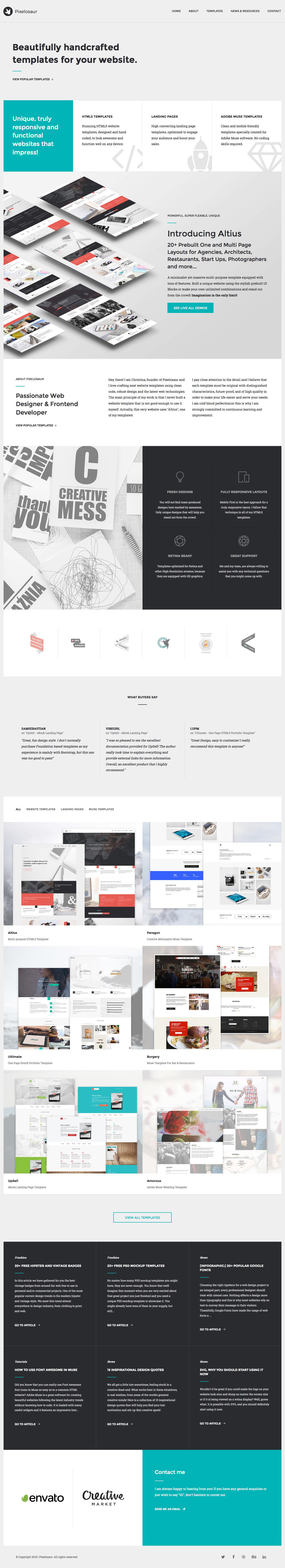 Pixelosaur Website Screenshot