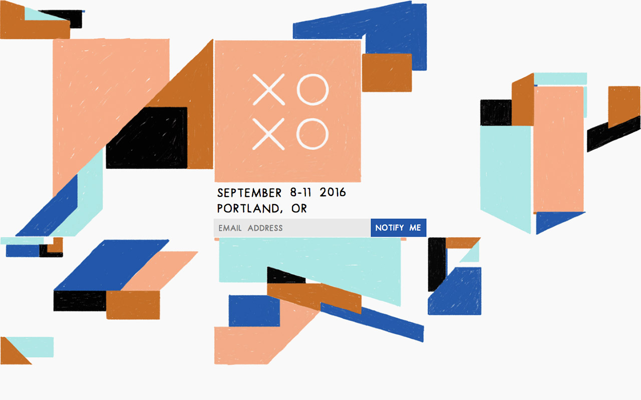 XOXO 2016 Website Screenshot