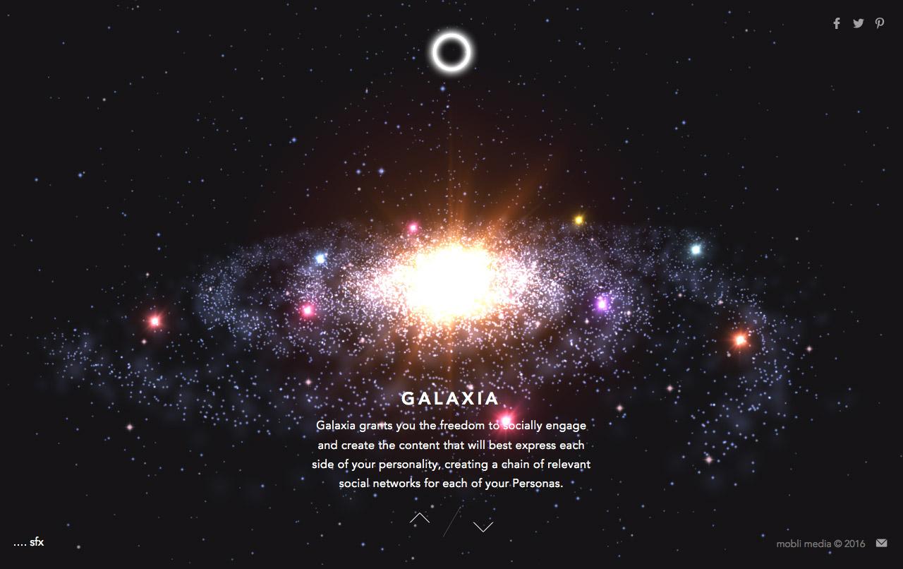 Galaxia Website Screenshot