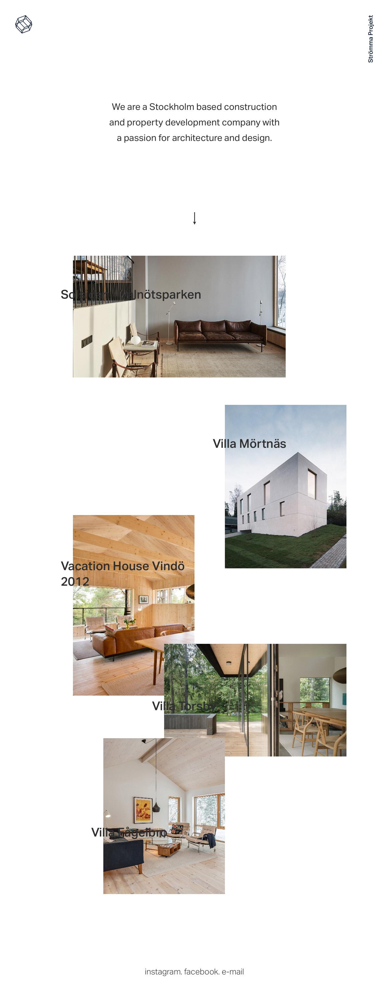 Strömma Projekt Website Screenshot