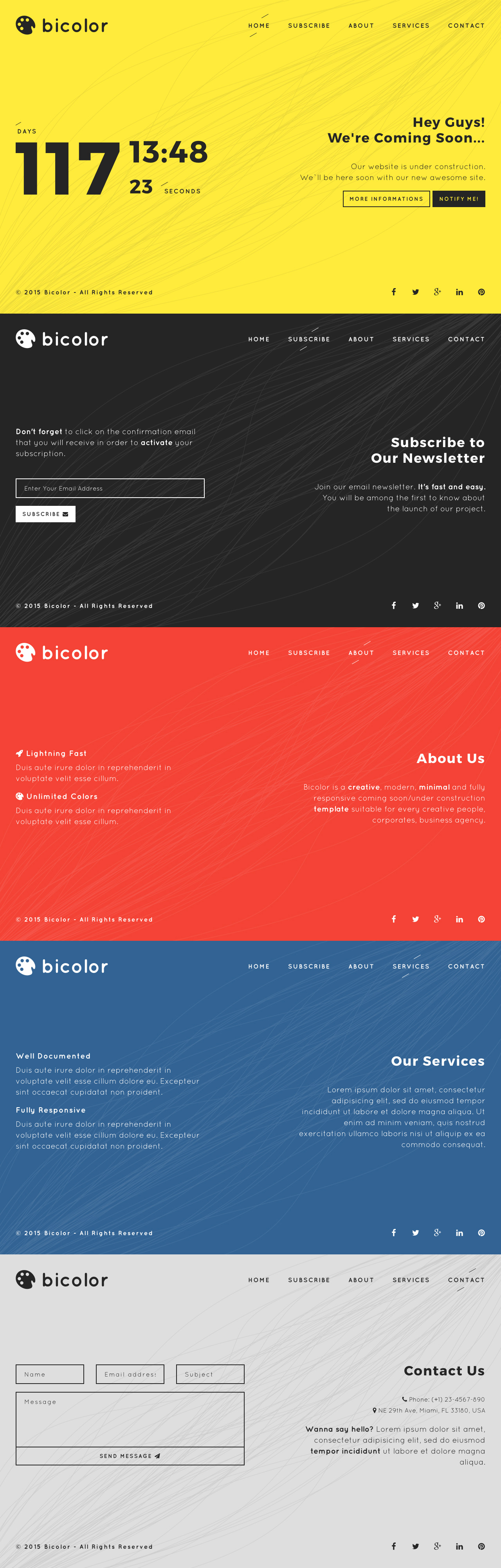 Bicolor Website Screenshot