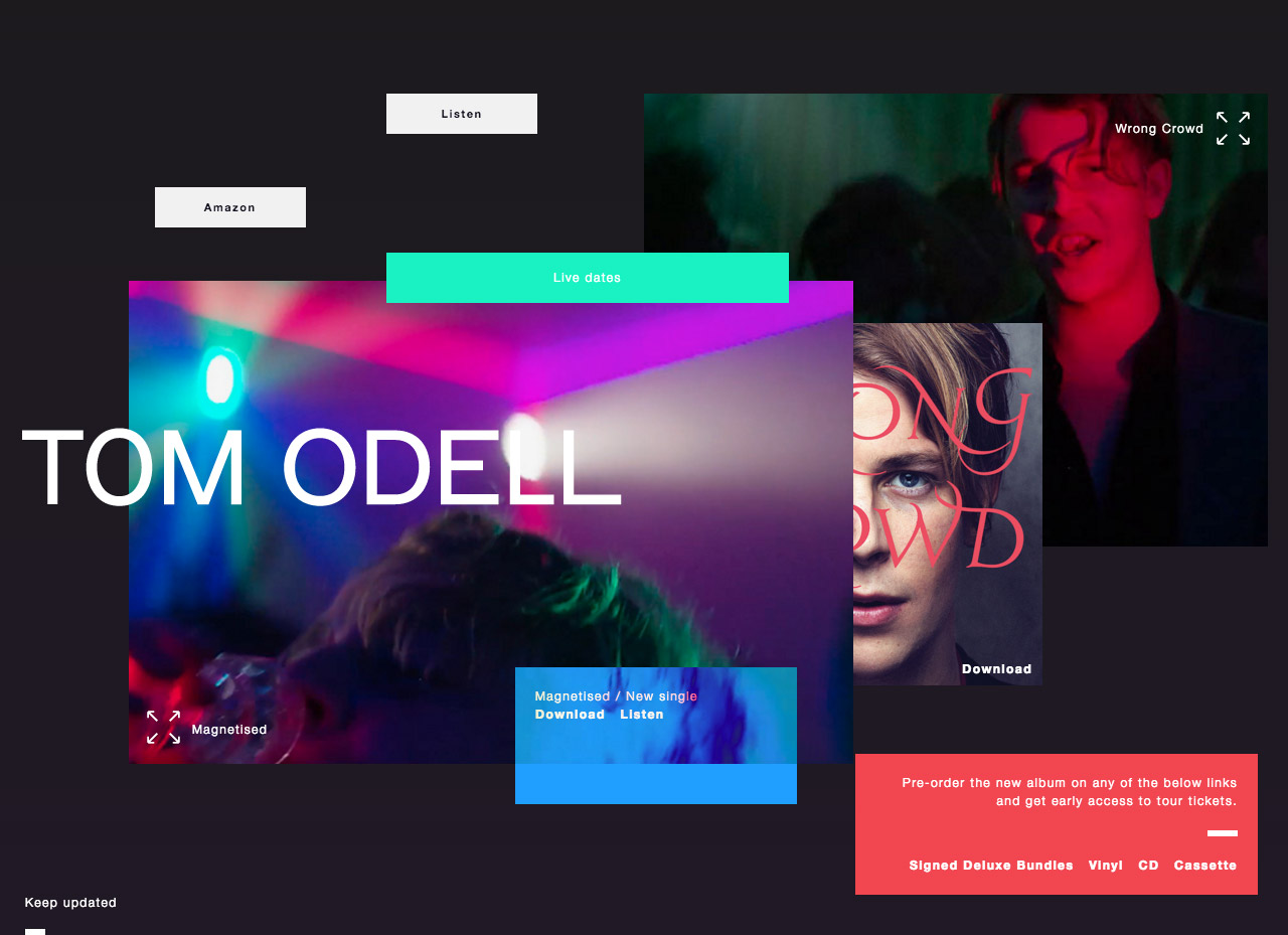 Tom Odell Website Screenshot