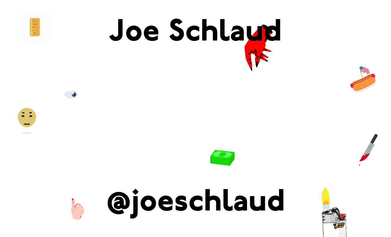 Joe Schlaud Website Screenshot