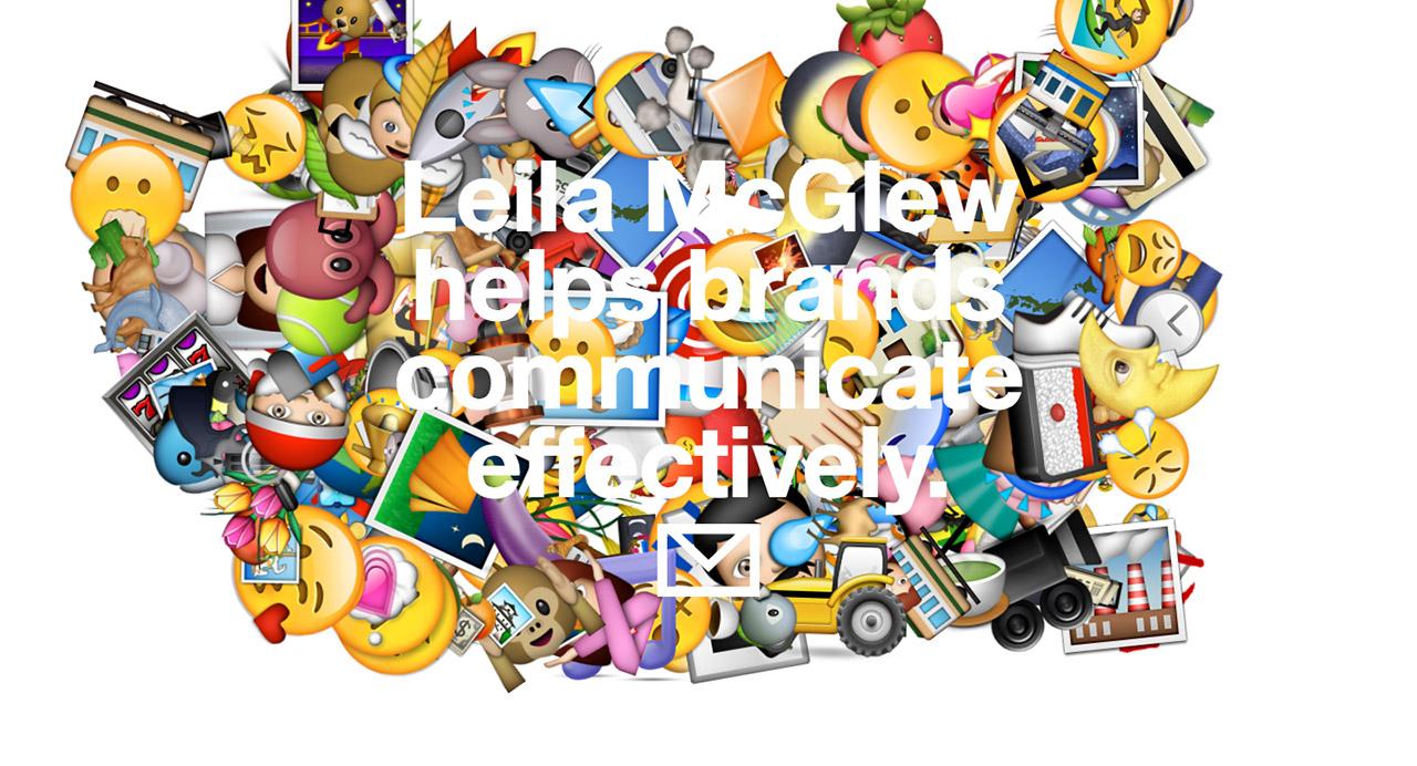 Leila McGlew Website Screenshot