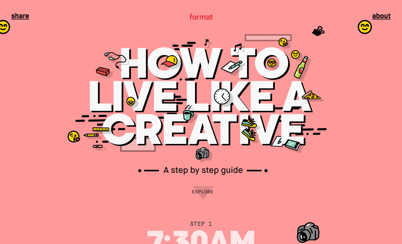 How to Live Like a Creative Website Screenshot