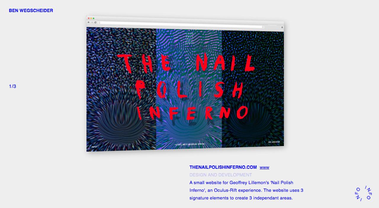 Ben Wegscheider Website Screenshot