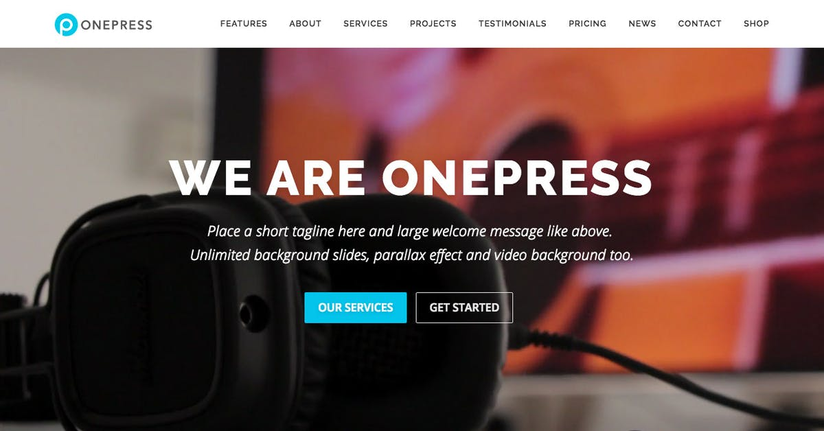 OnePress Plus - One Page WordPress Theme Review