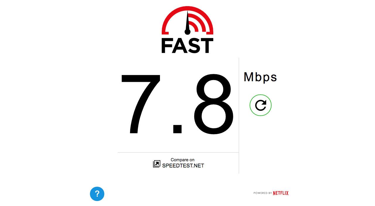 Fast.com Website Screenshot