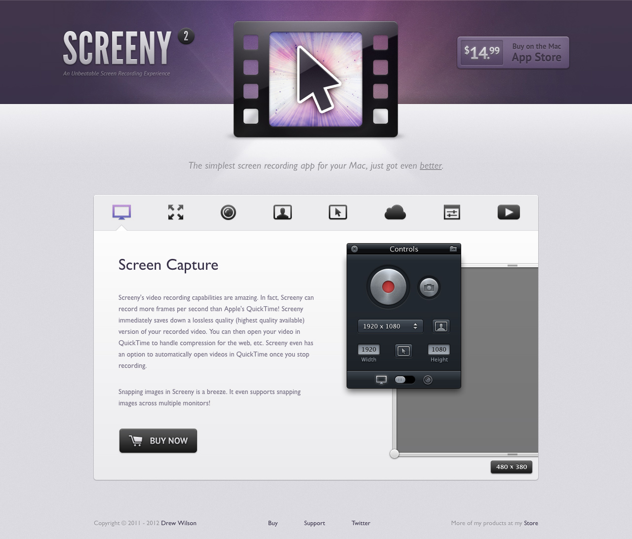 Screeny Website Screenshot