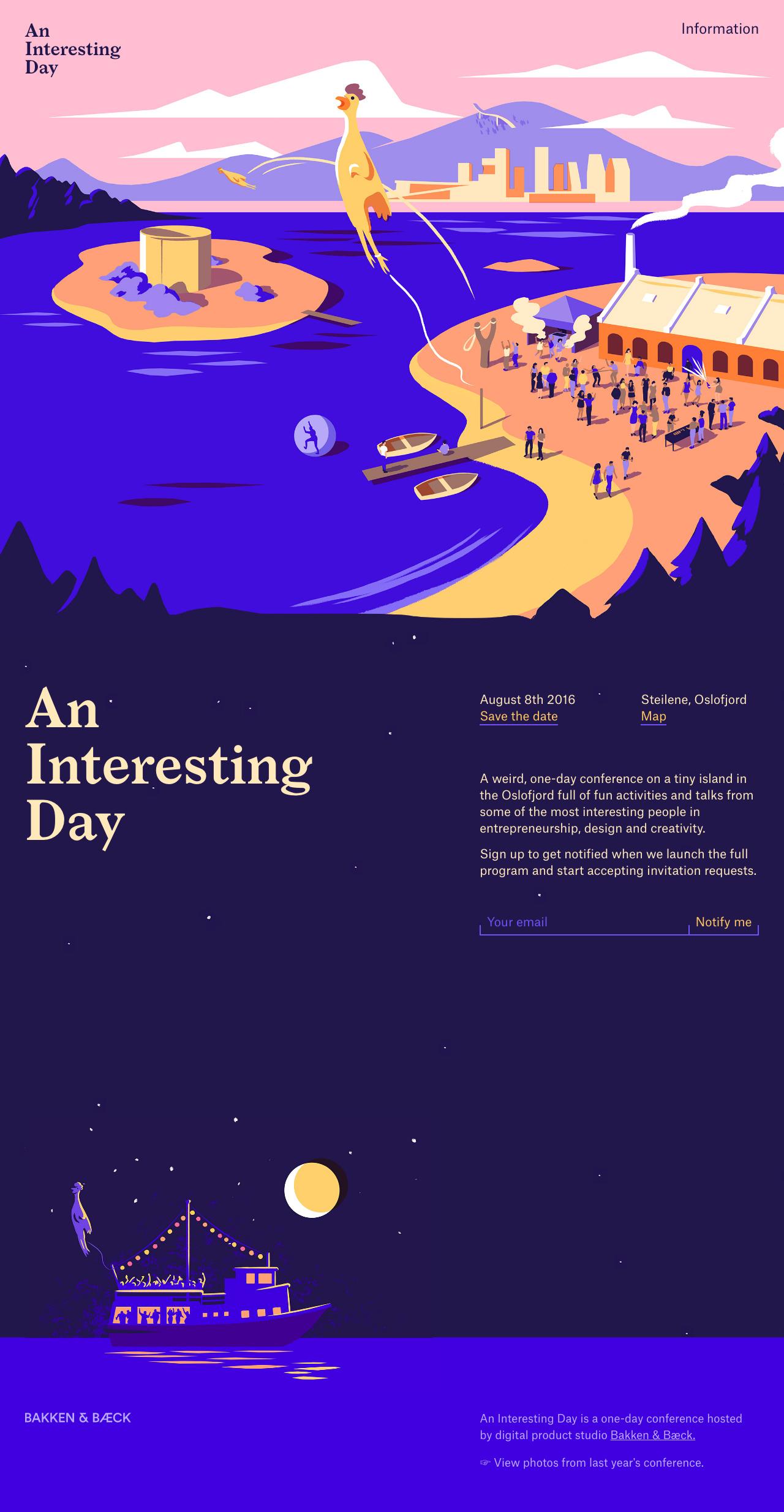 An Interesting Day Website Screenshot