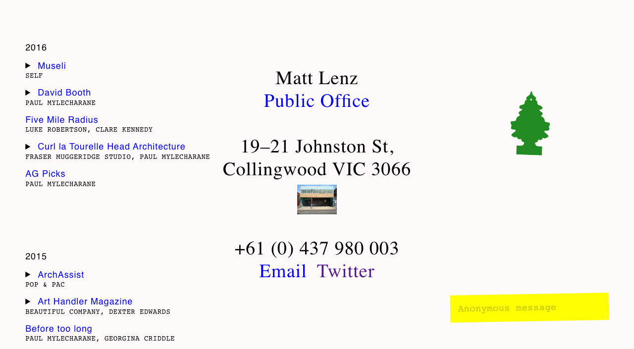 Matt Lenz Website Screenshot