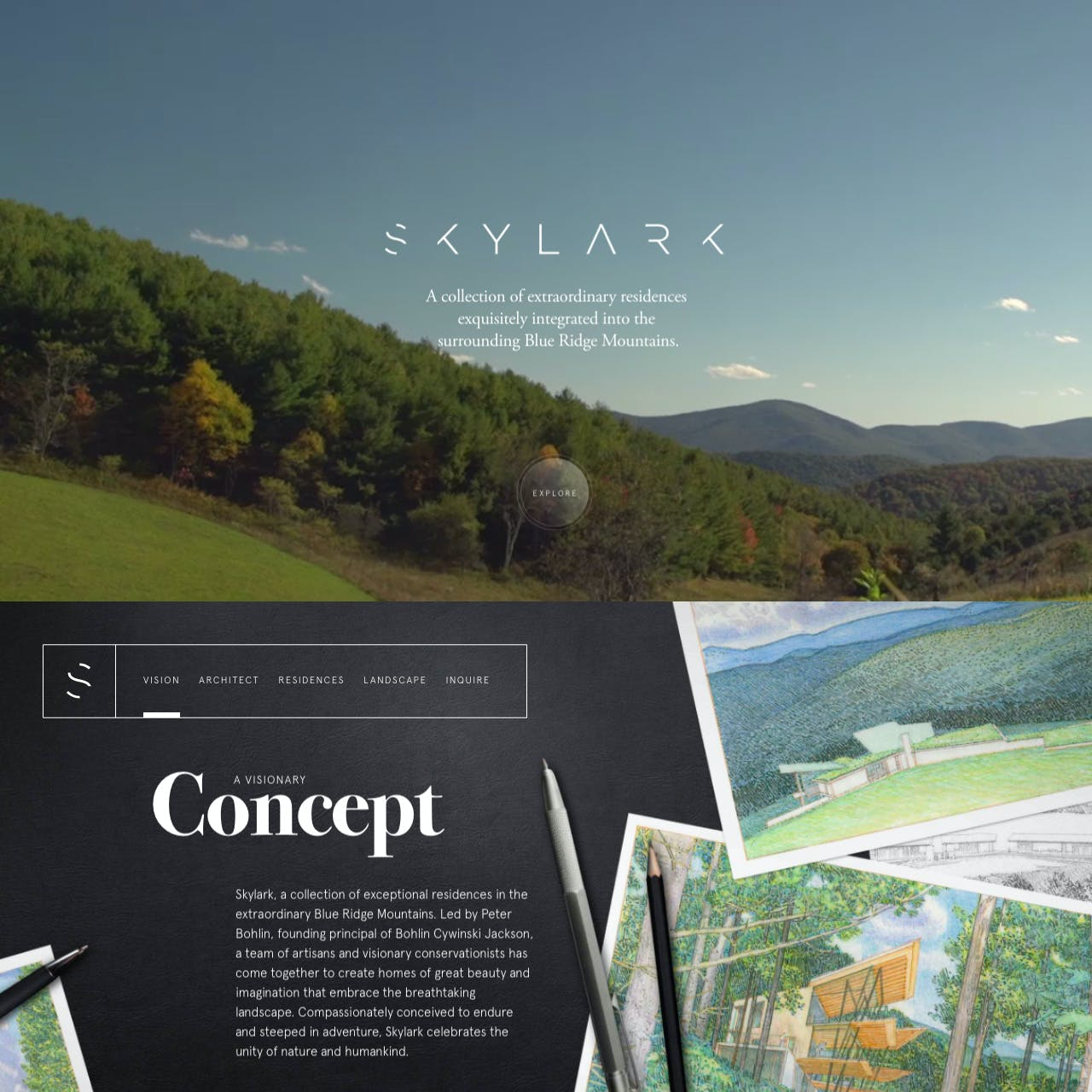 Skylark Website Screenshot
