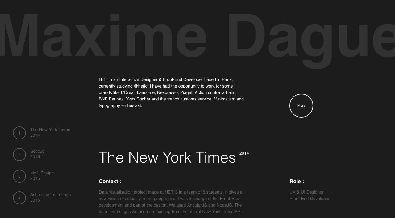 Maxime Daguet Website Screenshot