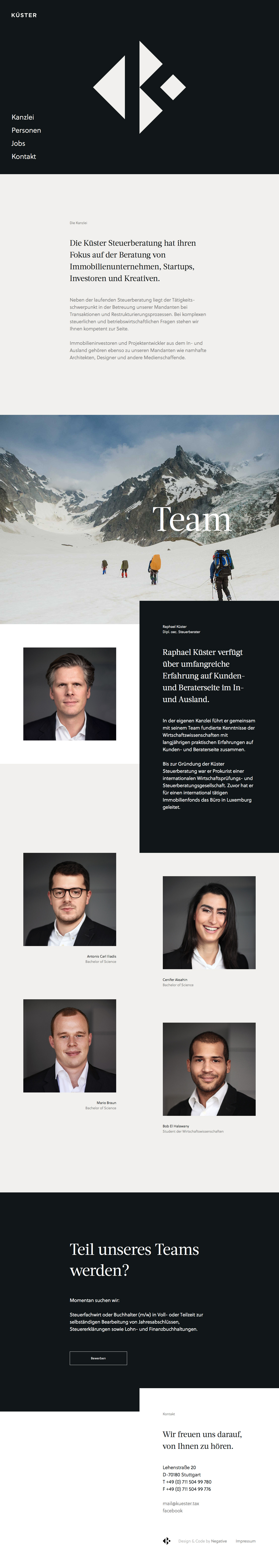 Küster Steuerberatung Website Screenshot