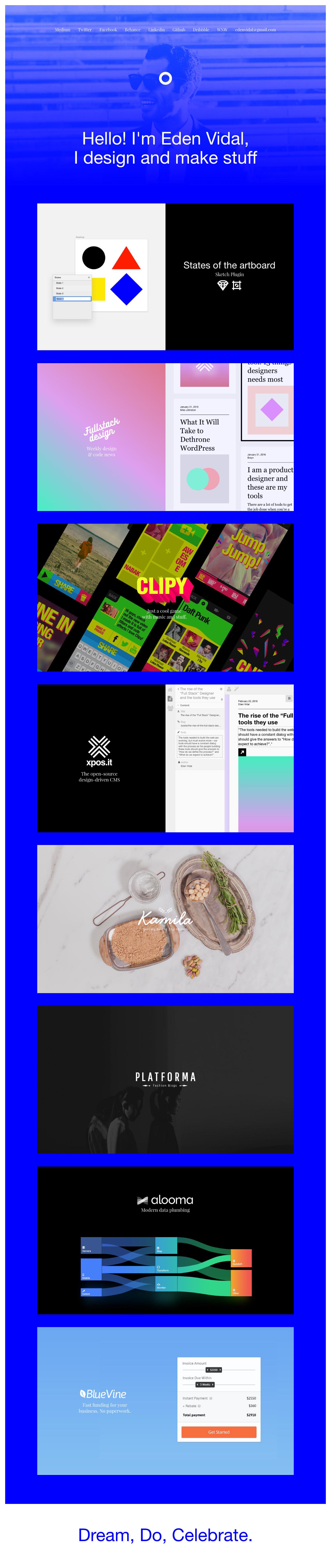 Eden Vidal Website Screenshot
