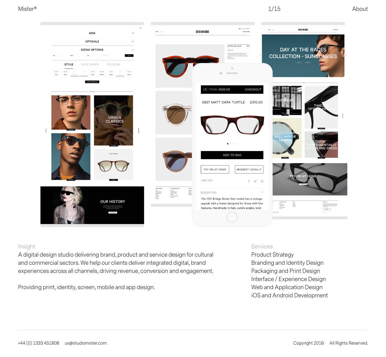 Mister Website Screenshot