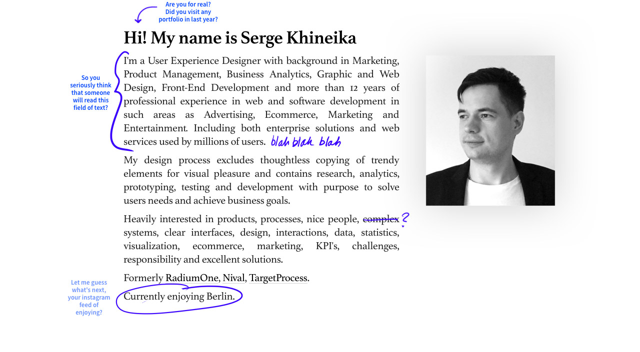 Serge Khineika Website Screenshot