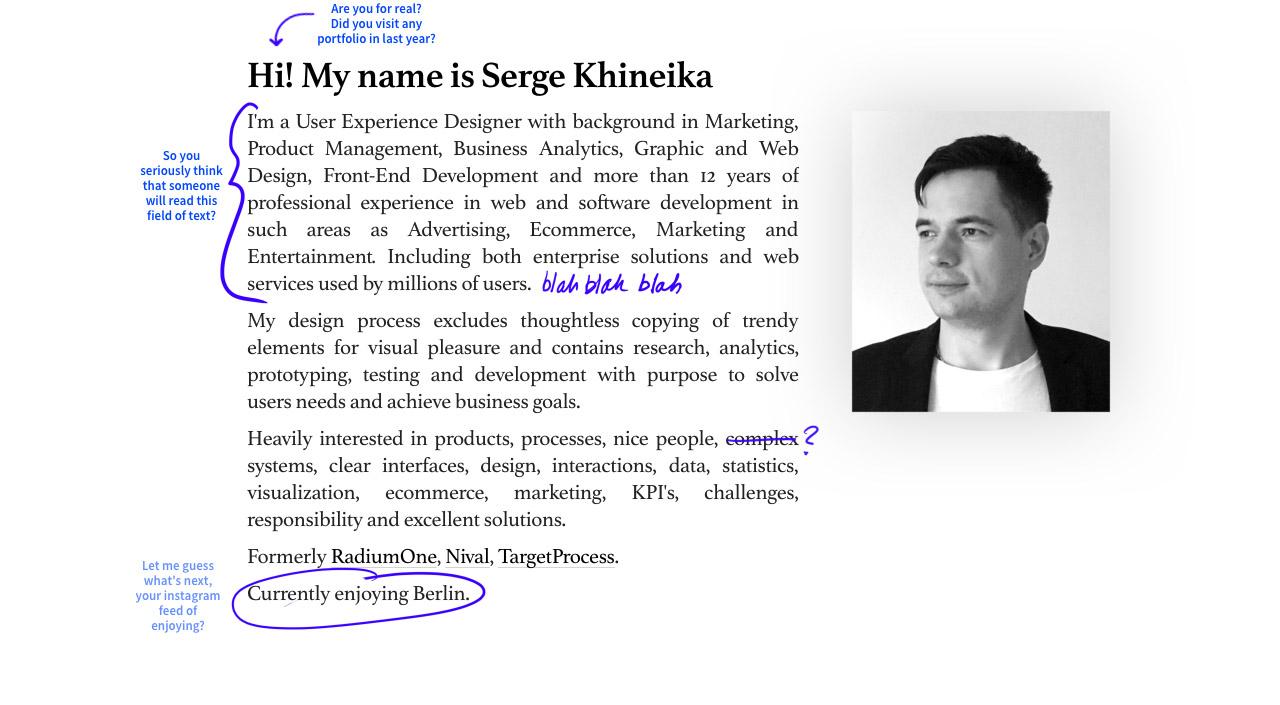 Serge Khineika Website Screenshot