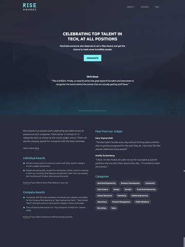Fixed Background One Page Websites