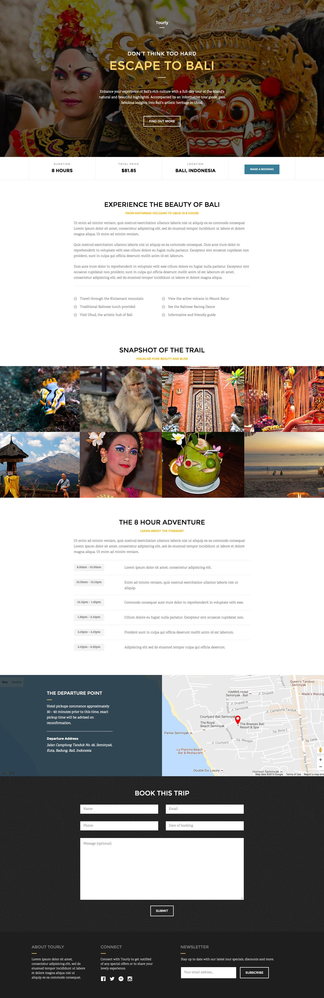 Tourly Website Screenshot
