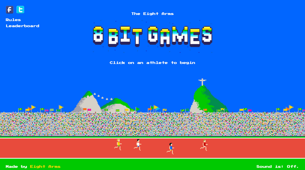 The Eight Arms 8-bit Games Website Screenshot
