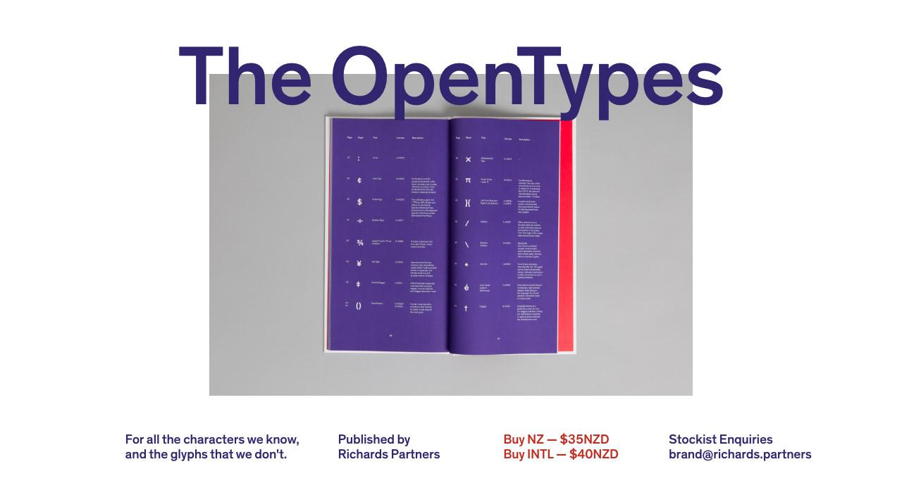 The OpenTypes Website Screenshot