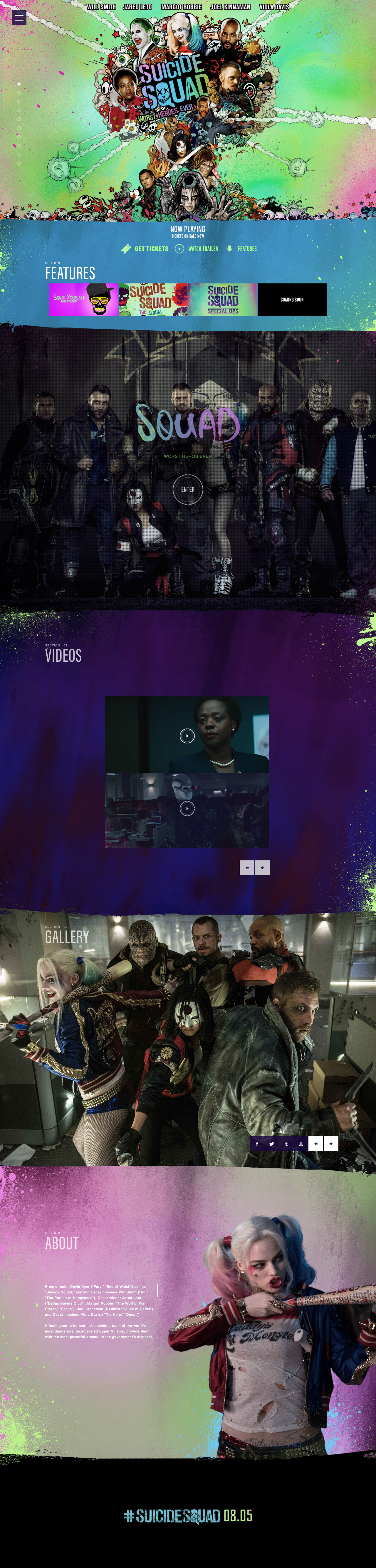 Suicide Squad Website Screenshot