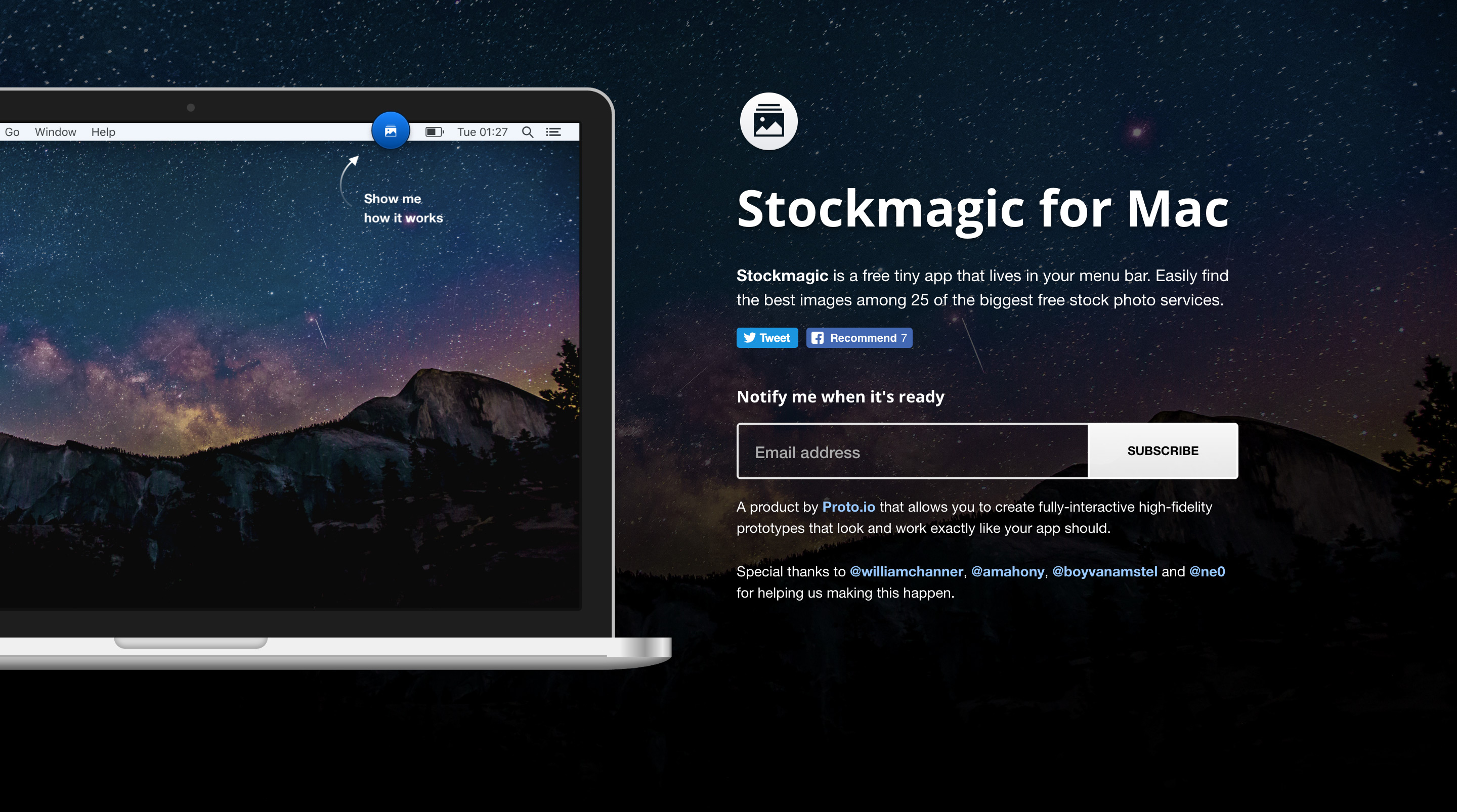 Stockmagic for Mac Website Screenshot