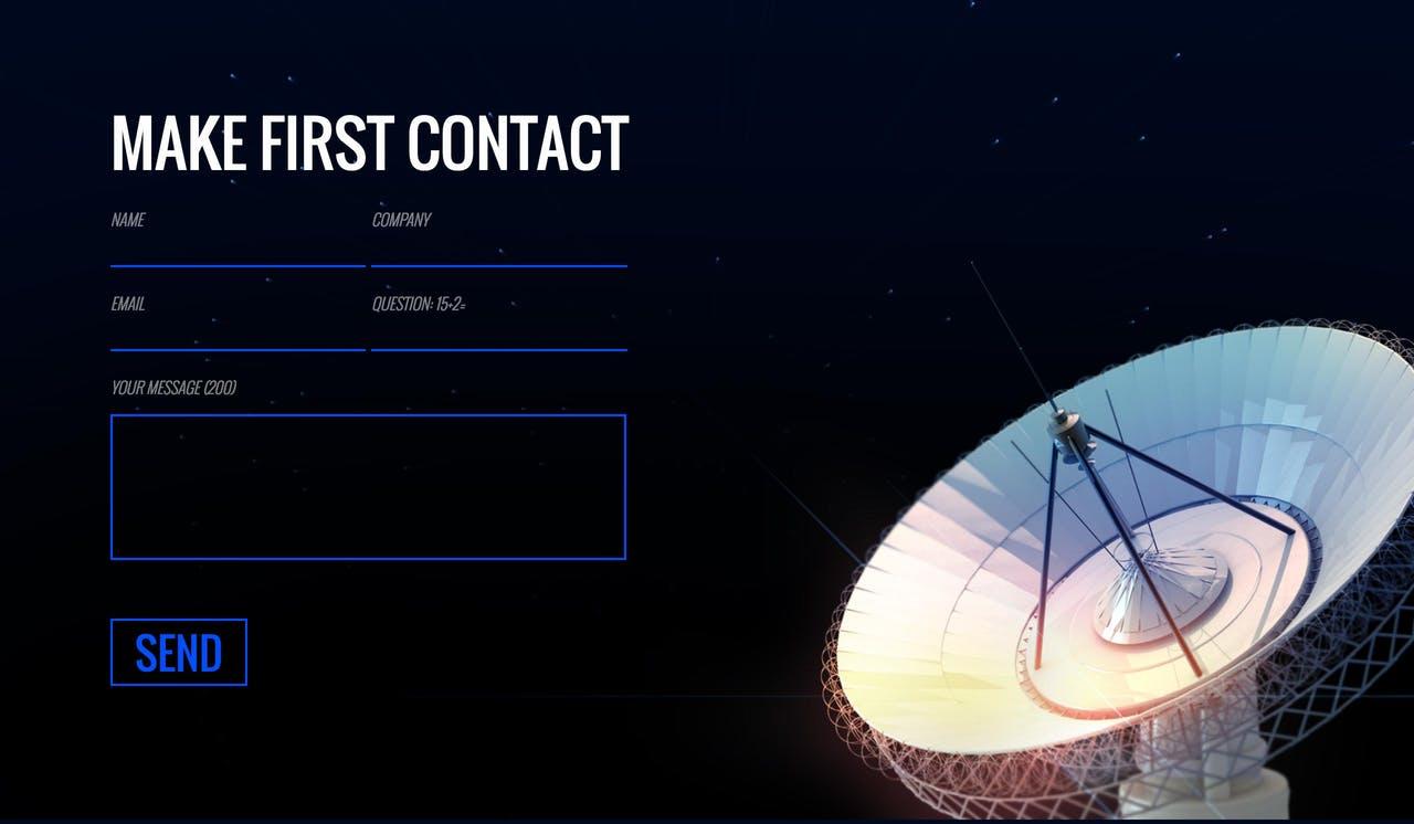 Contact Form - Adam Woodhouse Screenshot